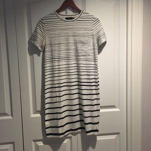 NWT Theory women's Striped T-Shirt Dress Size S